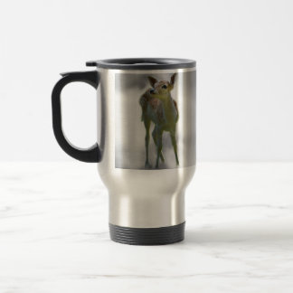 Baby deer's curiosity travel mug