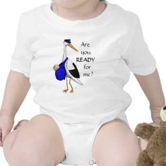 Baby Delivery Stork Baby Suit T Shirts