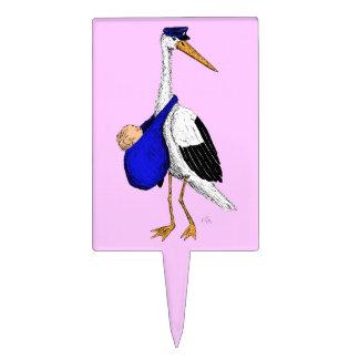 Baby Delivery Stork Cake Topper - Girl