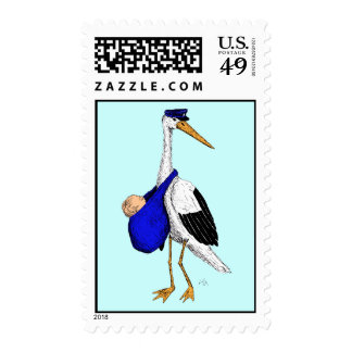 Baby Delivery Stork Stamps