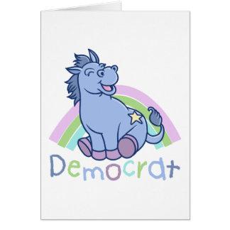 Baby Democrat Donkey Card