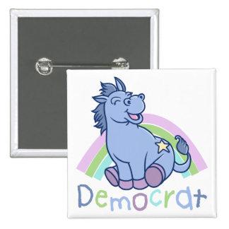 Baby Democrat Donkey Pinback Button