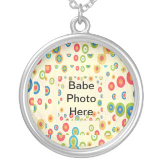 Baby Designs - Add Bebe Photo Customizable Round Pendant Necklace