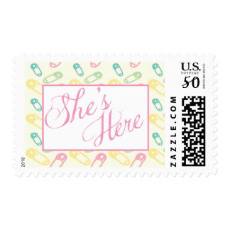 Baby Diaper Announcement Stamp