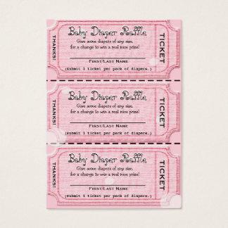 Baby Diaper Raffle Tickets Pink