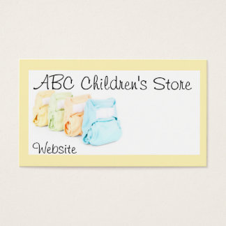 Baby Diapers Business Card