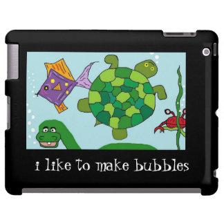"""BABY DINO """"i like to make bubbles""""  iPad Case"""