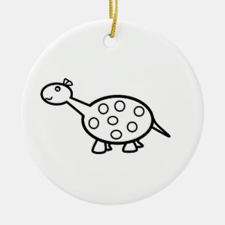 baby dino Double-Sided ceramic round christmas ornament