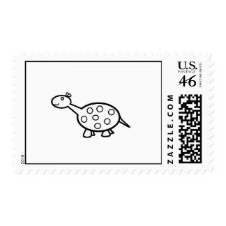 baby dino postage stamp