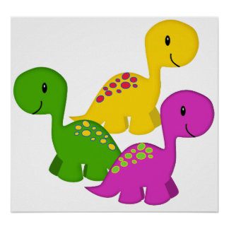 Baby Dino Triplets Poster