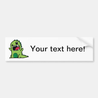 Baby dinosaur cartoon bumper sticker