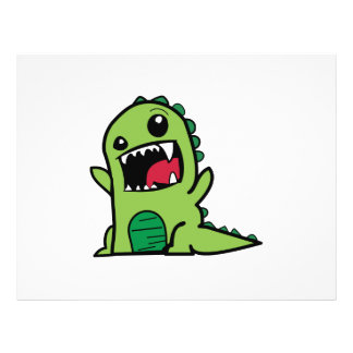 Baby dinosaur cartoon flyer