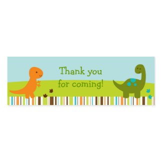Baby Dinosaur Goodie Bag Tags Gift Tags Mini Business Card