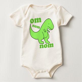 baby dinosaur om nom nom baby bodysuit