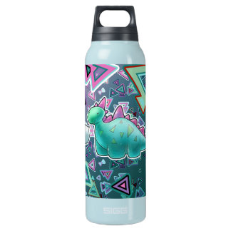 Baby Dinosaur Triangle Background Insulated Water Bottle