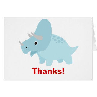 Baby Dinosaur Triceratops Thank you card