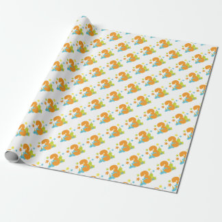 Baby Dinosaurs Third Birthday Wrapping Paper