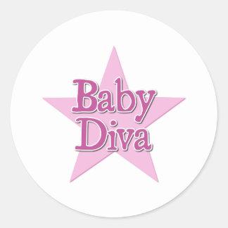 Baby Diva Classic Round Sticker