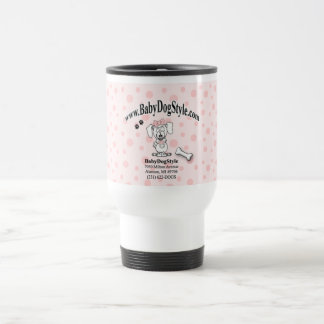 Baby Dog Style Cup 15 Oz Stainless Steel Travel Mug