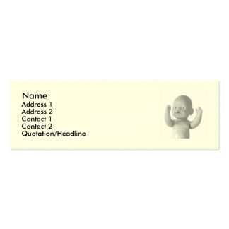 baby doll card business card template