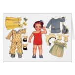 Baby Doll Paper Doll Cards
