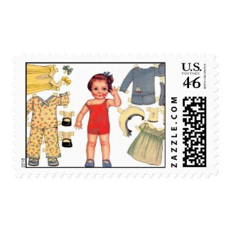 Baby Doll Paper Doll Postage