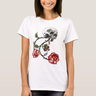 Baby Doll T - Skull and Roses T-Shirt