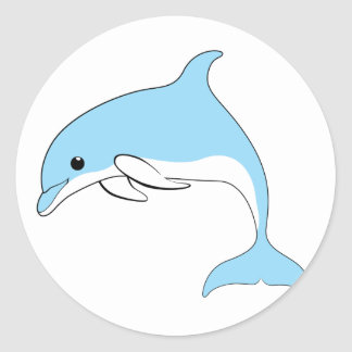 Baby Dolphin Classic Round Sticker