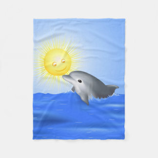 Baby Dolphin Fleece Blanket