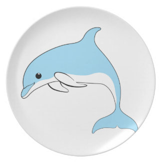 Baby Dolphin Melamine Plate