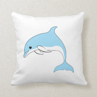 Baby Dolphin Throw Pillow