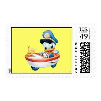 Baby Donald in Boat Postage Stamp