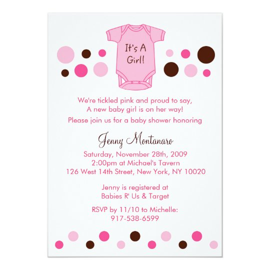 Baby Dots Baby Shower Invitation