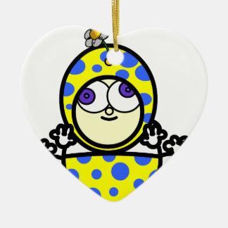 Baby Dots Ceramic Ornament