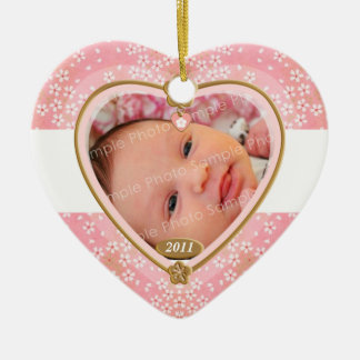Baby Double Sided Photo Heart Frame Ornaments
