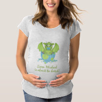 Baby Dragon About to Hatch Maternity T-Shirt