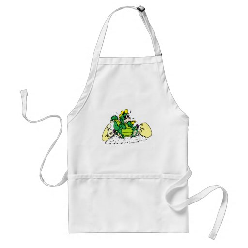 baby dragon adult apron