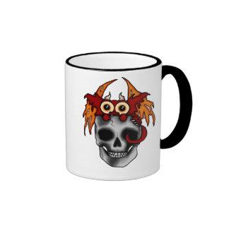 Baby Dragon and Skull Mug