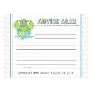 Baby Dragon Baby Shower Advice Card