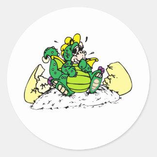 baby dragon classic round sticker