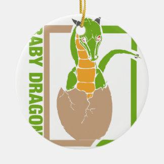 Baby Dragon egg design Ceramic Ornament