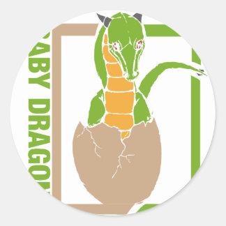 Baby Dragon egg design Classic Round Sticker