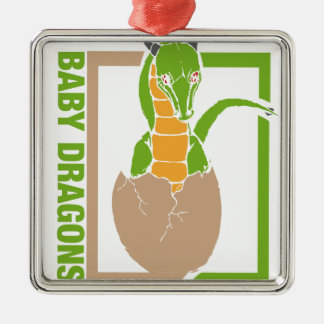 Baby Dragon egg design Metal Ornament