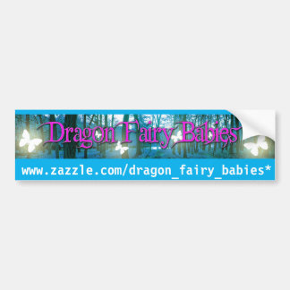 baby dragon fairy baby butterfly fantasy bumper bumper sticker