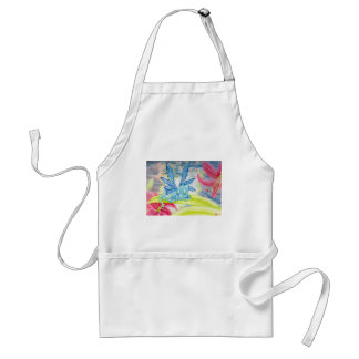 Baby dragon fairy tiger lily flower storm spring adult apron