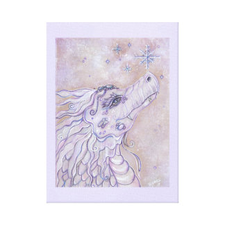 Baby dragon first Christmas wrapped canvas print