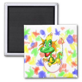 Baby dragon in egg graphic.png 2 inch square magnet