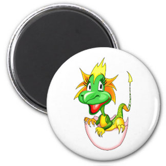 Baby dragon in egg graphic.png 2 inch round magnet