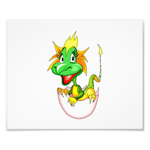 Baby dragon in egg graphic.png photo print