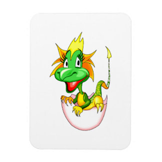 Baby dragon in egg graphic.png rectangular photo magnet